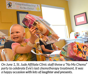 Evie's No Mo Chemo party