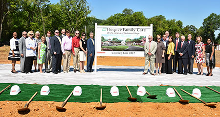 Groundbreaking on the region's first inpatient hospice facility