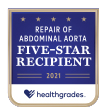 Healthgrades Five-Star Recipient for Repair of Abdominal Aorta 2021